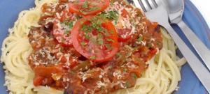 Špagety s baklažánom